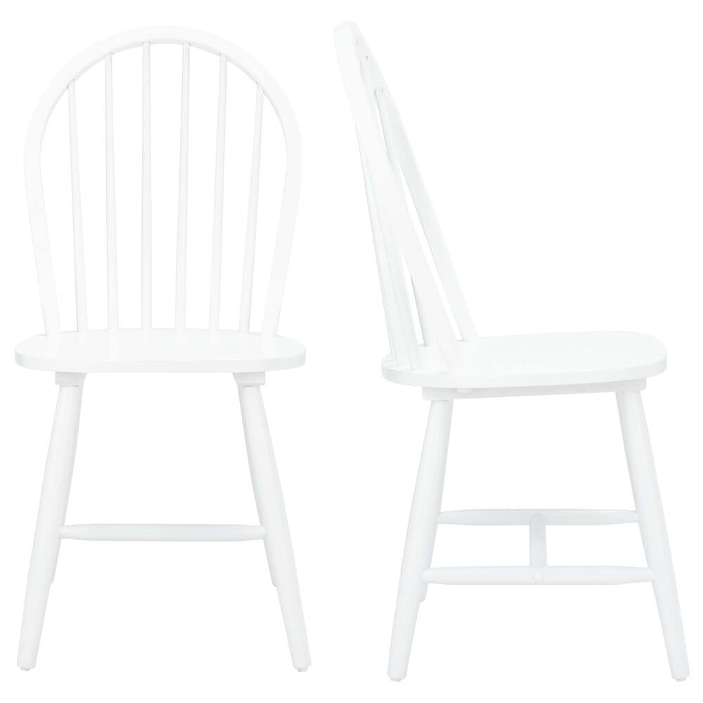 Safavieh Camden Dining Chair in White (Set of 2), , large