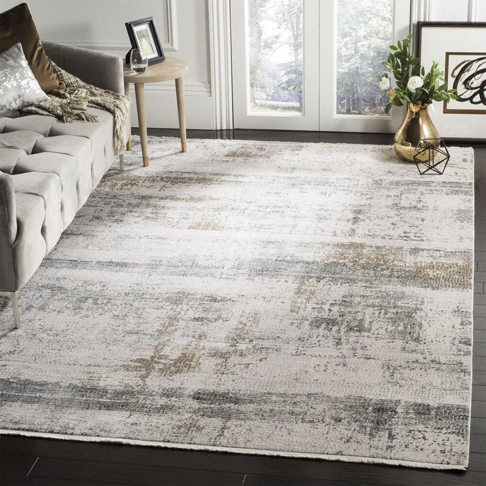 Safavieh Eclipse ECL230 4' x 6' Beige and Grey Area Rug, , large