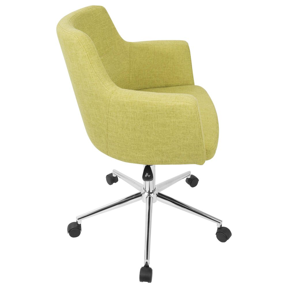 Lumisource Andrew Adjustable Office Chair in Citrus Green/Chrome, , large