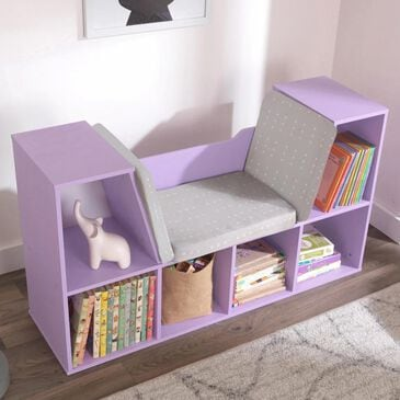 Kidkraft Bookcase with Reading Nook in Lavender, , large