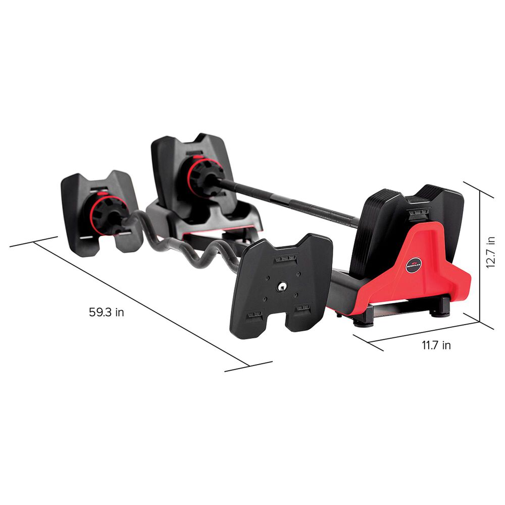Bowflex SelectTech 2080 Barbell with Curl Bar, , large