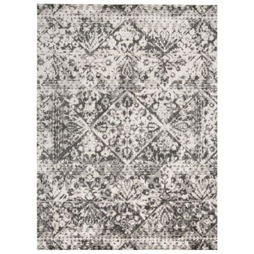 """Feizy Rugs Kano 3876F 4'3"""" x 6'3"""" Charcoal and Ivory Area Rug, , large"""