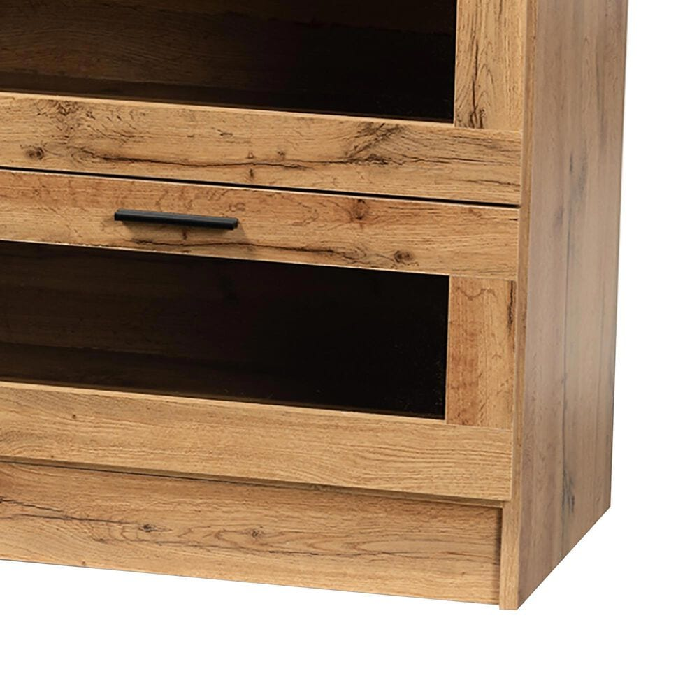 """Baxton Studio Adelino 65"""" TV Stand in Oak Brown and Black, , large"""