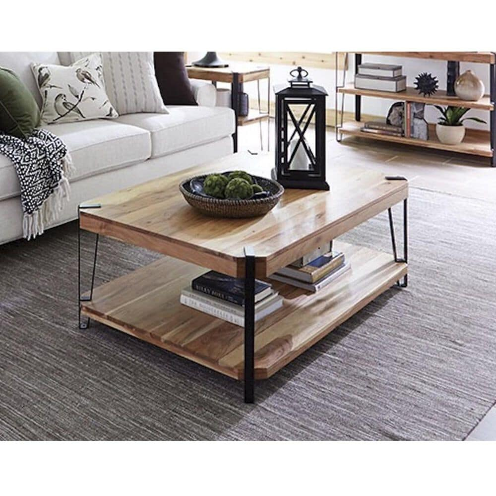 """Bolton Furniture Ryegate Large 48"""" Coffee Table in Natural, , large"""