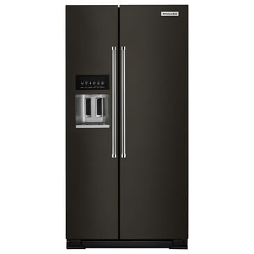 KitchenAid 24.8 Cu. Ft. Side-by-Side Refrigerator in Black Stainless Steel, , large