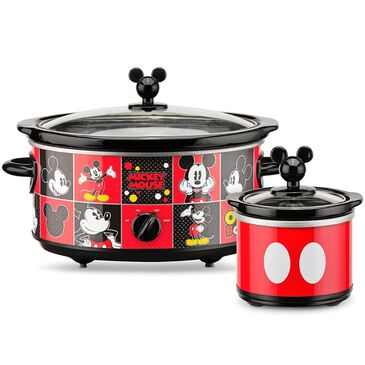 Disney Mickey Mouse 5-Quart Slow Cooker and 20 Oz. Mini Dipper, , large