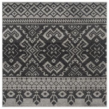 Safavieh Adirondack ADR107A-6SQ 6' x 6'  Silver/Black Square Rug, , large