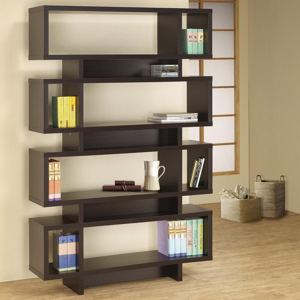 Pacific Landing Open Bookcase in Cappuccino, , large