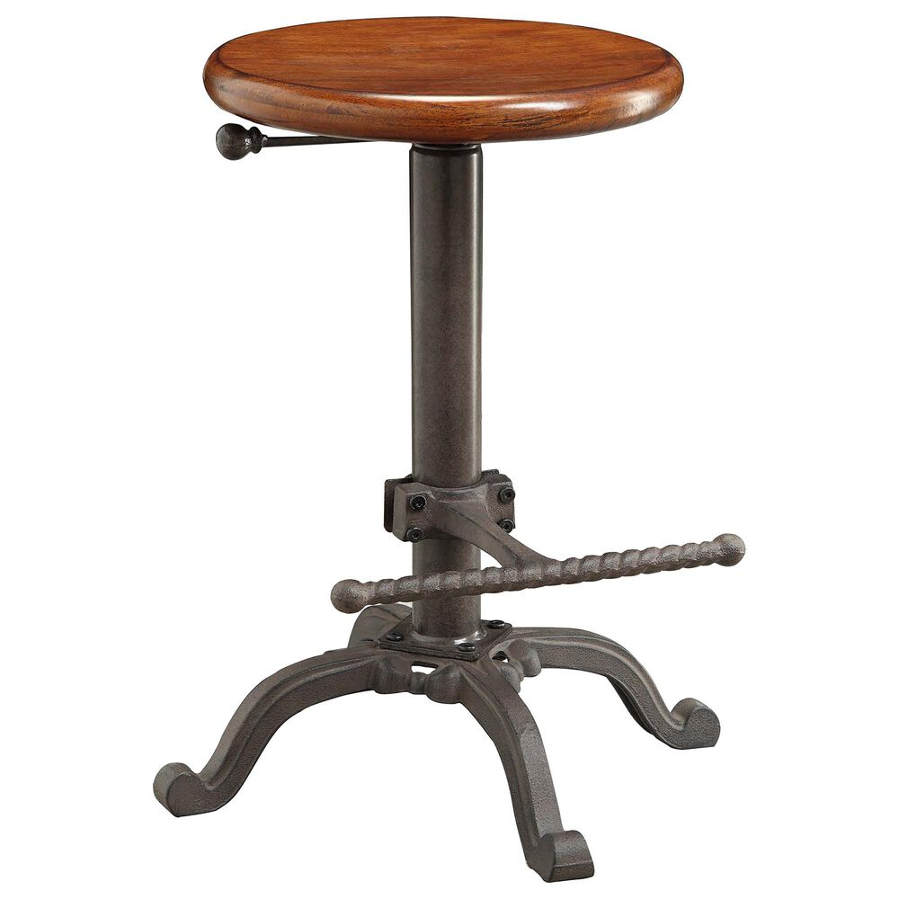 Carolina Chair and Table Justin Adjustable Stool in Chestnut/Industrial, , large