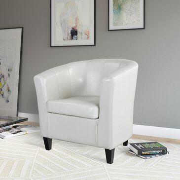 CorLiving Antonio Tub Chair in Cream White, , large