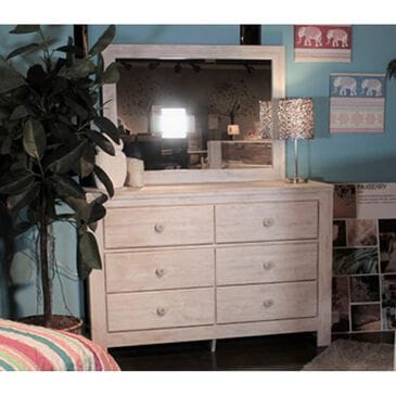 Signature Design by Ashley Paxberry Dresser and Mirror in  White Wash , , large