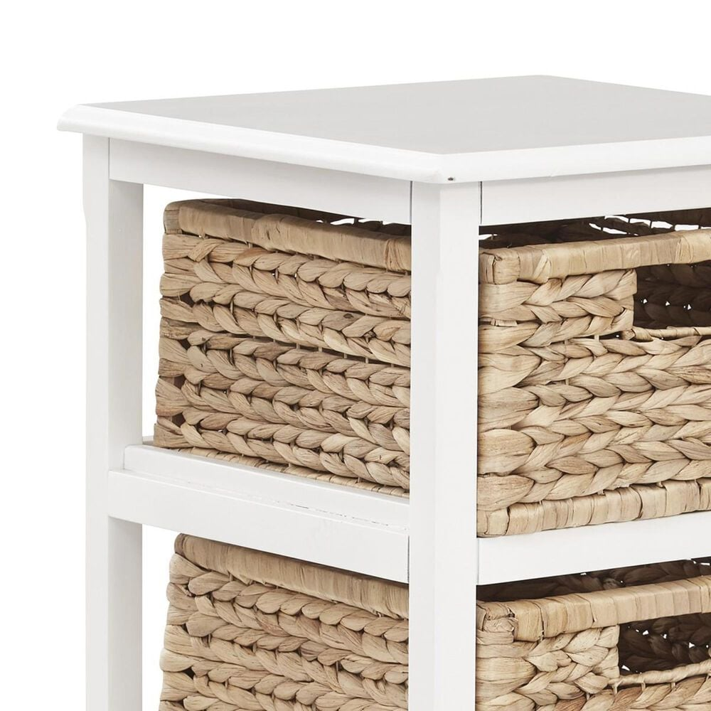 OSP Home Seabrook 4-Tier Storage Unit in White, , large