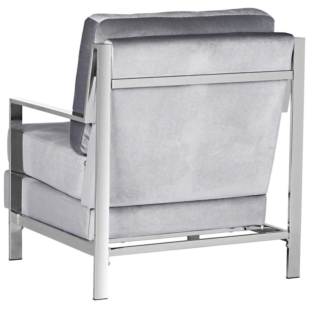 Safavieh Walden Accent Chair in Light Grey Velvet, , large