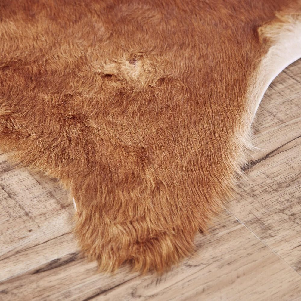 Feizy Rugs Bartlett Animal Cowhide 4' x 6' Light Brown Area Rug, , large