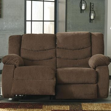 Signature Design by Ashley Tulen Reclining Loveseat in Chocolate, , large