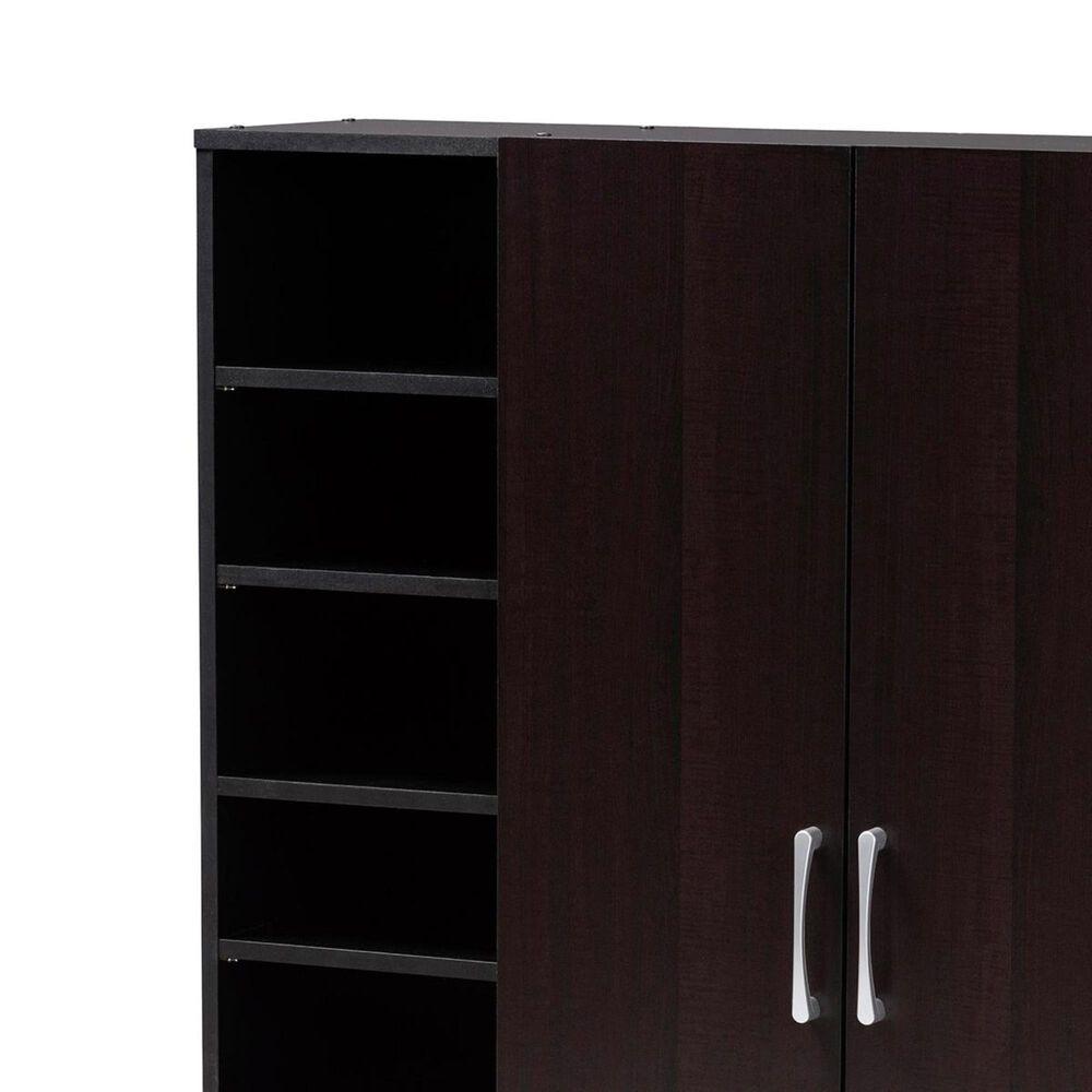 Baxton Studio Marine 2-Door Entryway Shoe Storage Cabinet in Wenge, , large