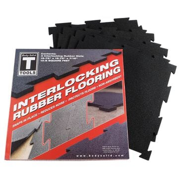 Body Solid Black Puzzle Mat - 4 Pack, , large
