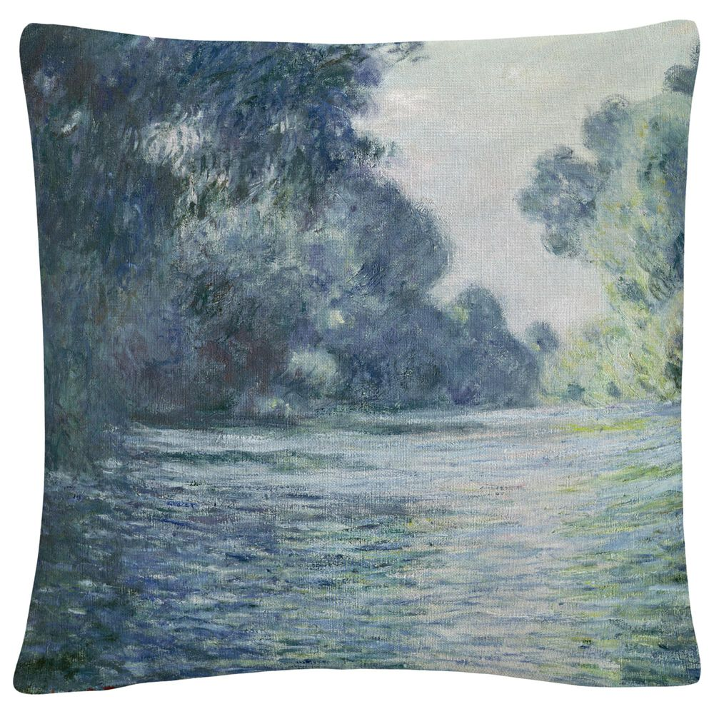 Timberlake Claude Monet 'Branch Of The Seine' 16 x 16 Decorative Throw Pillow, , large