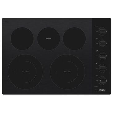 "Whirlpool 30"" Electric Ceramic Glass Cooktop with Two Dual Radiant Elements, , large"