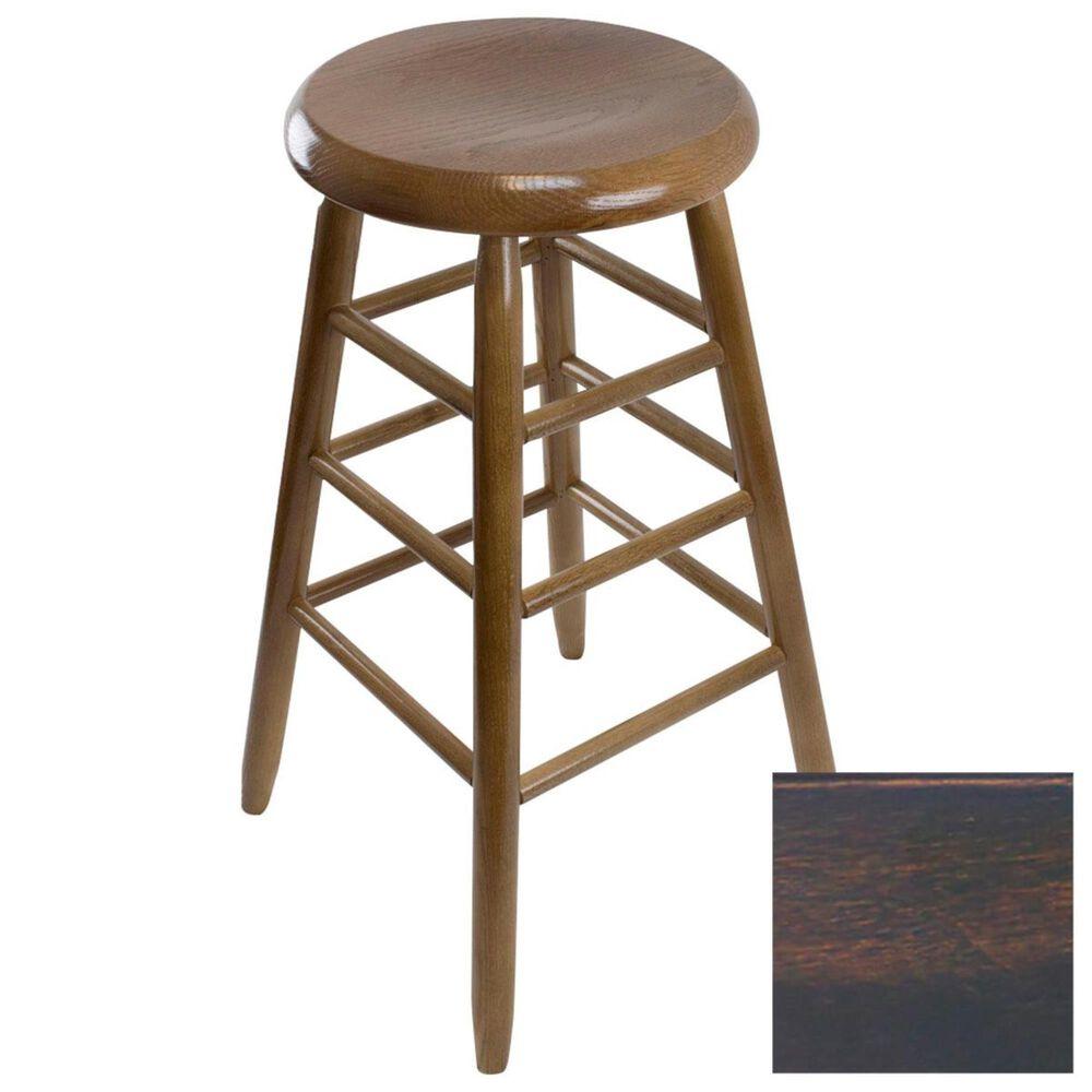Lakeside Garland Round Barstool in Woodleaf Black, , large