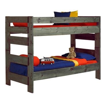 Timber Point Bunkhouse Wrangler Twin over Twin Bunkbed in Driftwood, , large