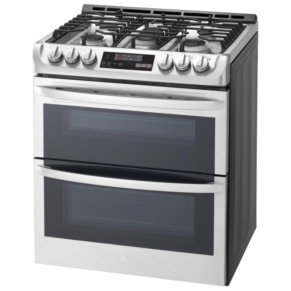 LG 6.9 Cu. Ft. Gas Double Oven Slide-In Convection Range EasyClean in Stainless Steel, , large