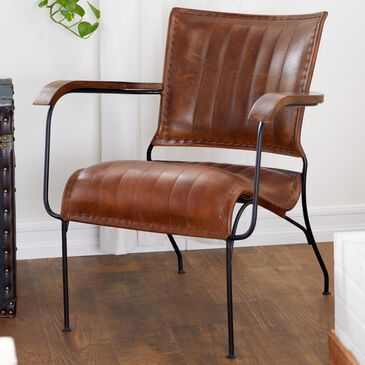 "Maple and Jade 29"" Chair in Brown Leather, , large"