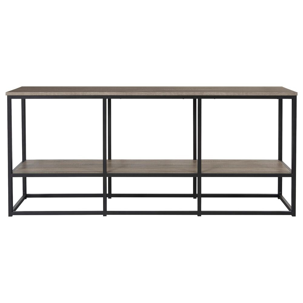 """Signature Design by Ashley Wadeworth XL 65"""" TV Stand in Weathered Wood and Black, , large"""