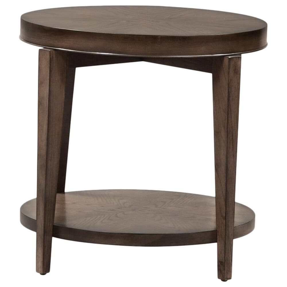Belle Furnishings Penton Round End Table in Espresso, , large
