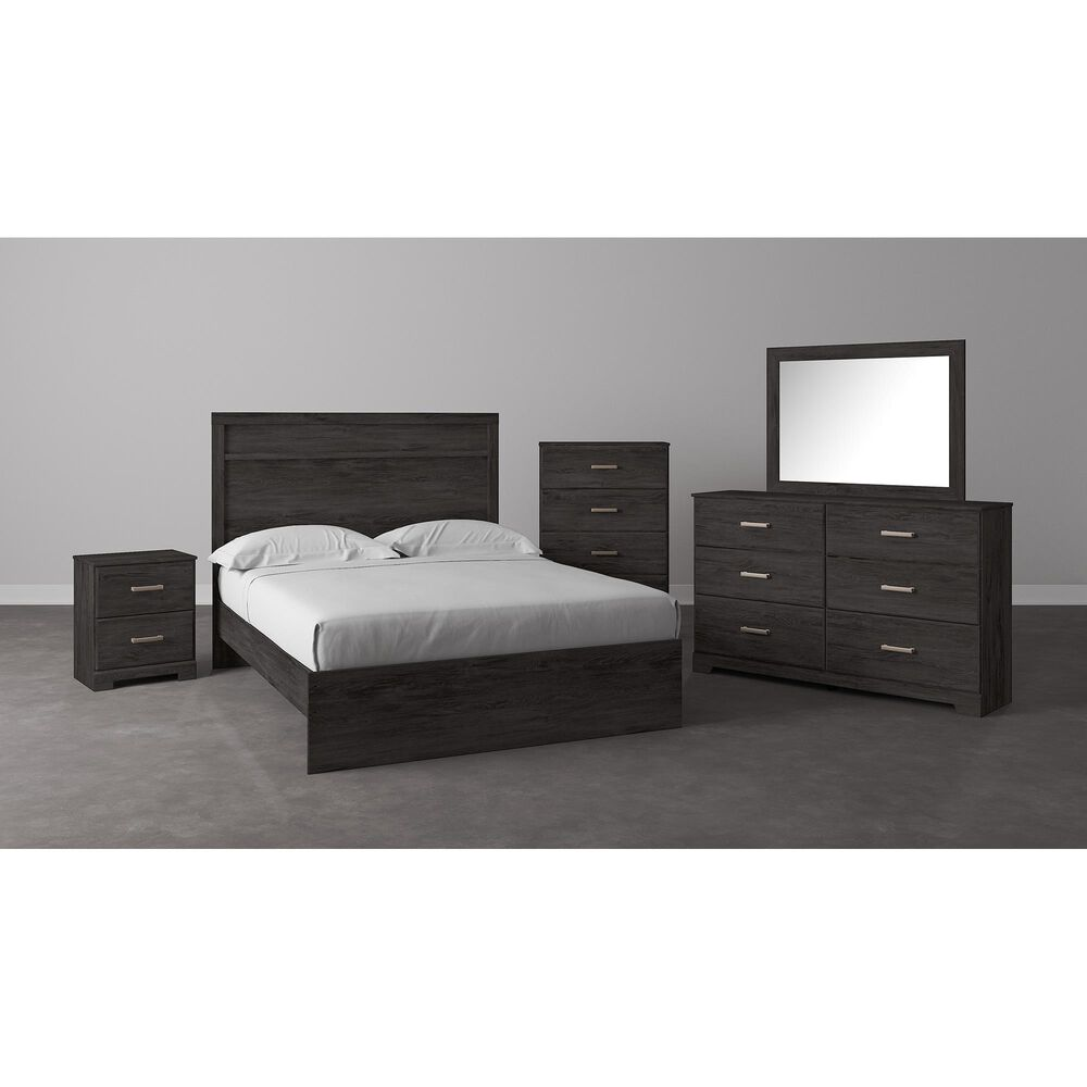 Signature Design by Ashley Belachime 6 Drawer Dresser and Mirror in Dark Charcoal, , large