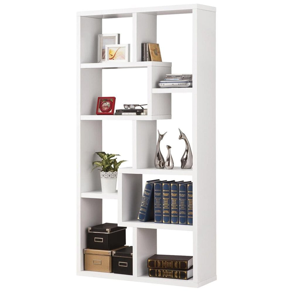 Living Essentials Multiple Cubed Rectangular Bookshelf in White, , large