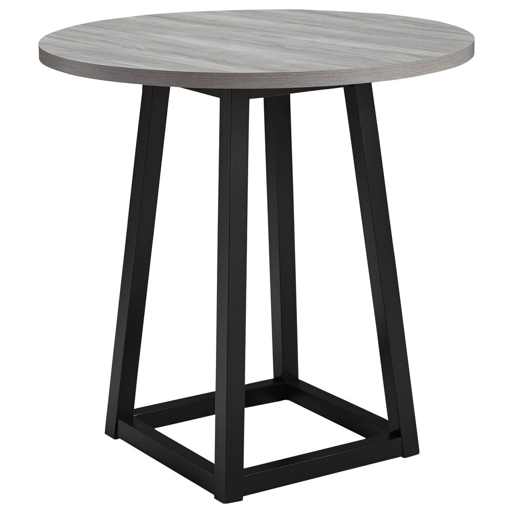 Signature Design by Ashley Showdell Round Counter Height Table in Natural Wood, , large