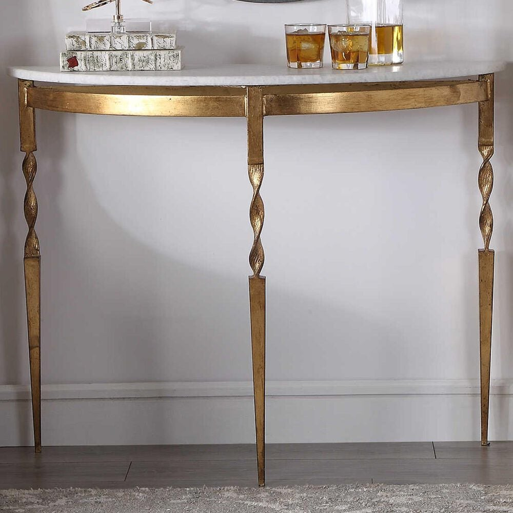 Uttermost Imelda Console Table in Gold, , large