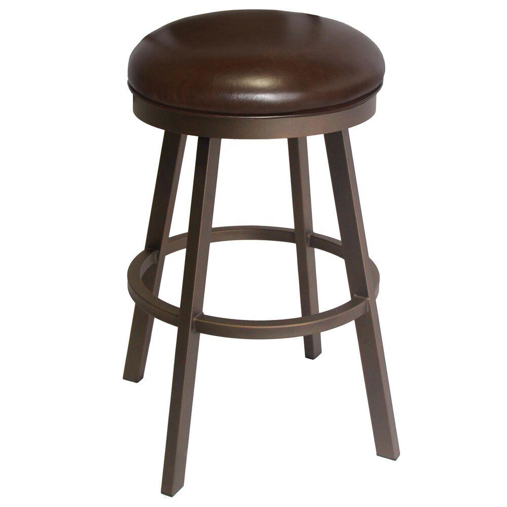 "Delaware Dining Edison 30"" Swivel Barstool in Sun Bronze/Dark Brown, , large"
