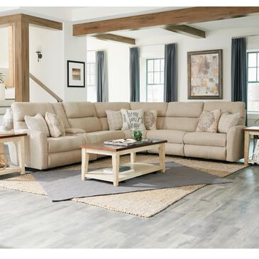 Hartsfield McPherson 6-Piece Reclining Sectional in Buff, , large