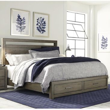 at HOME Modern Loft Queen Panel Storage Bed in Greystone, , large