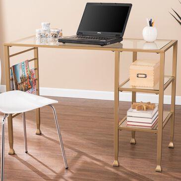 Southern Enterprises Jaymes Writing Desk in Soft Gold, , large