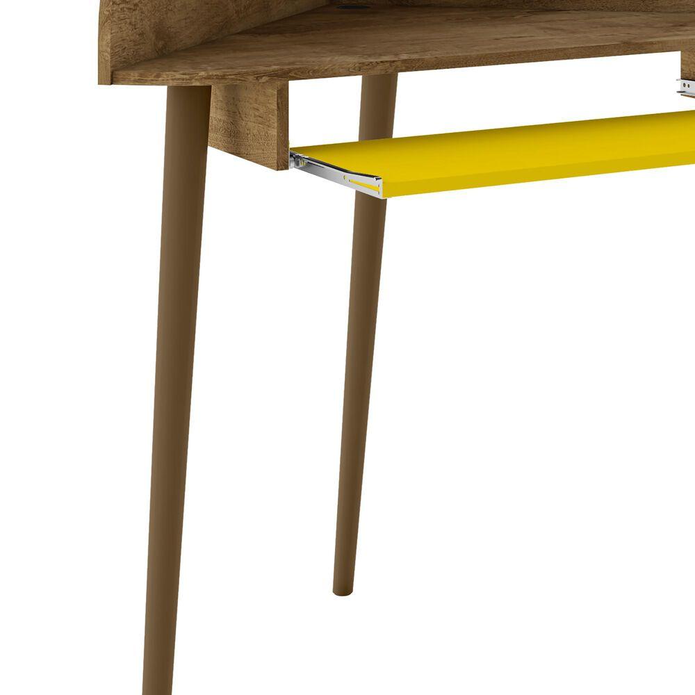 Dayton Bradley Corner Desk in Rustic Brown/Yellow, , large