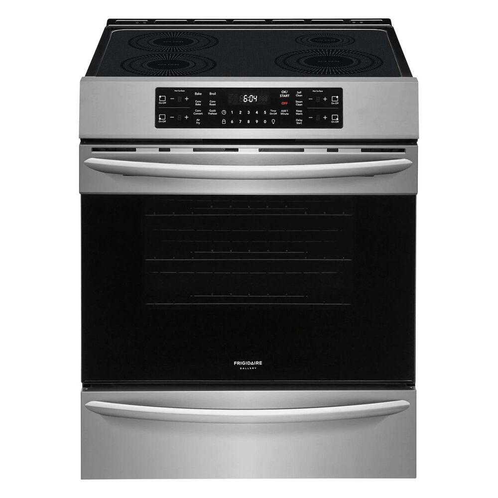 Frigidaire 2-Piece Kitchen Package with 30'' Front Control Induction Range in Stainless Steel, , large