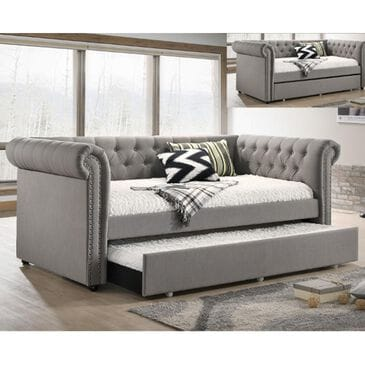 Claremont Ellie Daybed with Trundle in Gray, , large