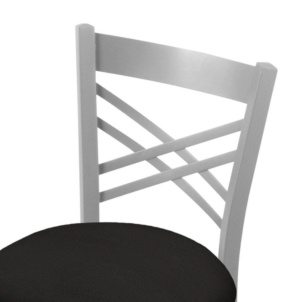 """Holland Bar Stool 620 Catalina 18"""" Chair with Anodized Nickel and Canter Espresso Seat, , large"""