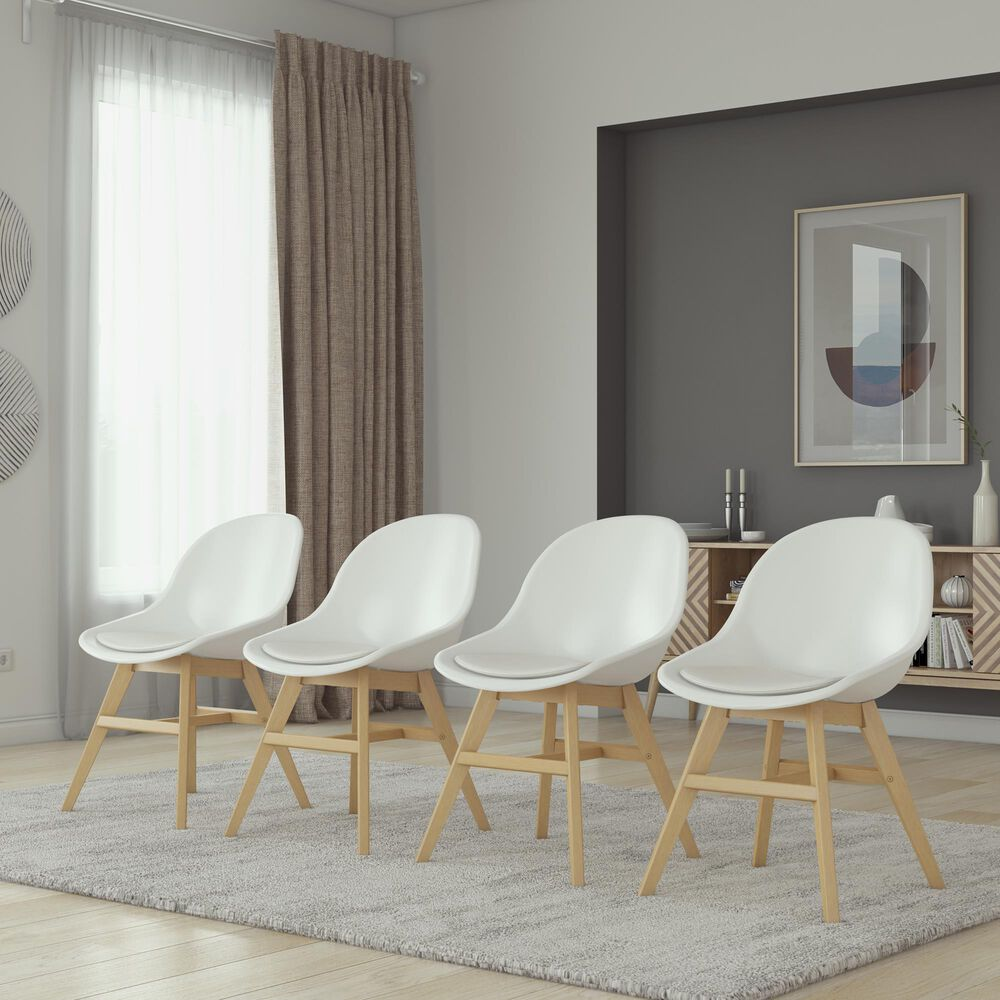International Home Miami Standard Midtown Mid-Century Modern Concept 9-Piece Dining Set in Grey, Brown and White, , large