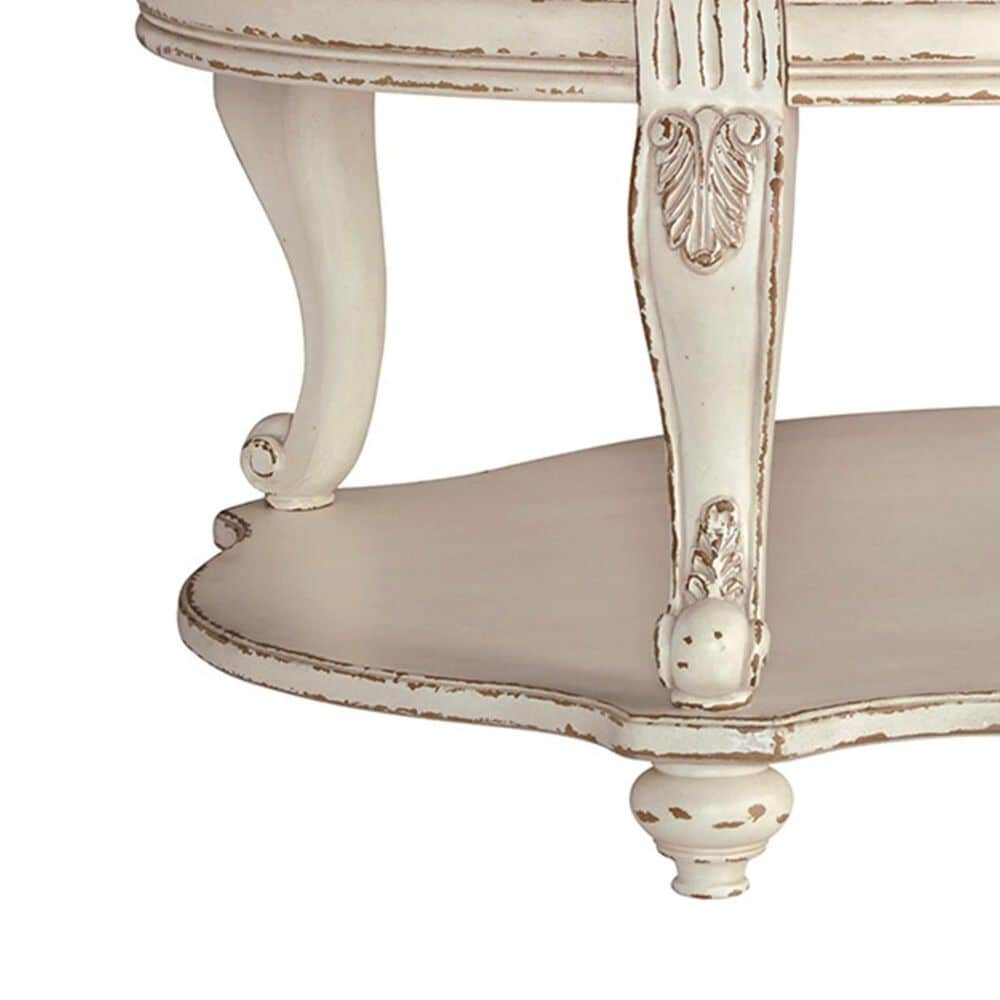 Signature Design by Ashley Realyn Cocktail Table in Chipped White and Brown, , large