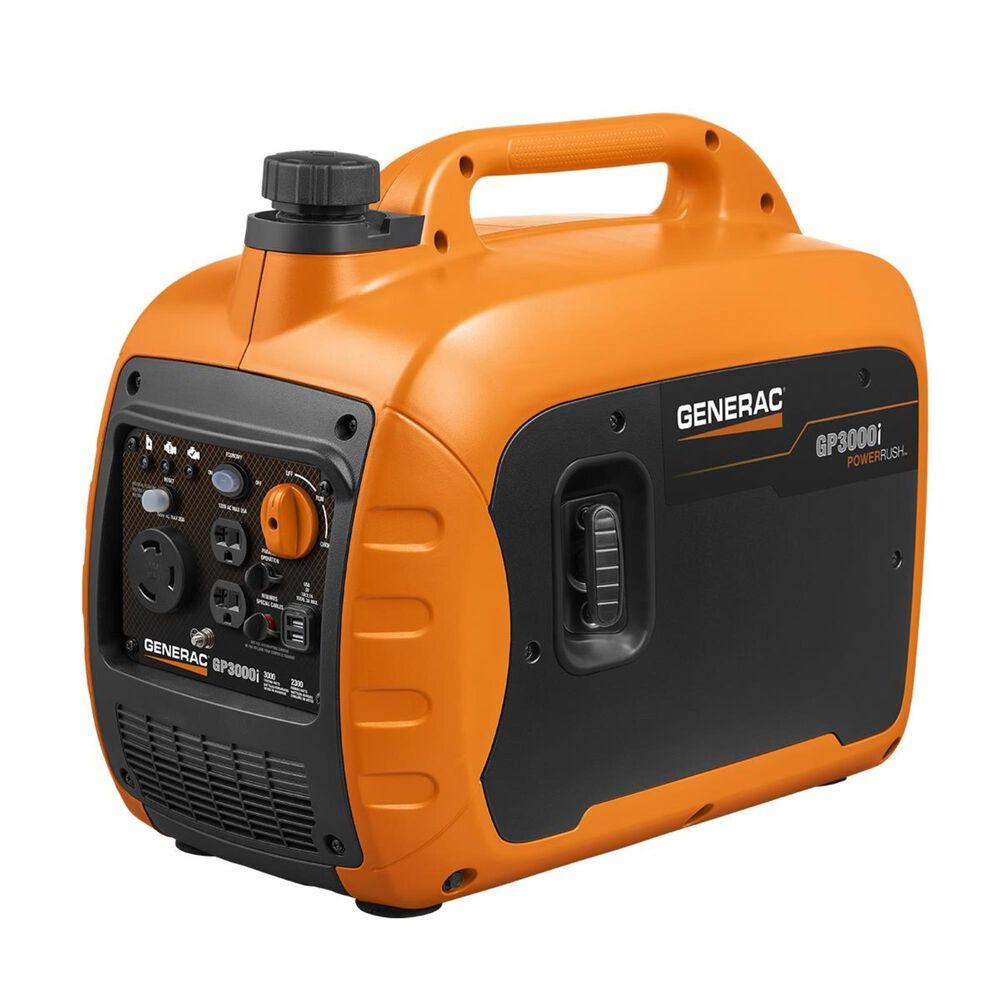 Generac GP3000i Portable Inverter Generator + 1 1/4 Gallon No Spill Gas Can, , large