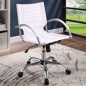 Furniture of America Schwartz Office Chair in White, , large