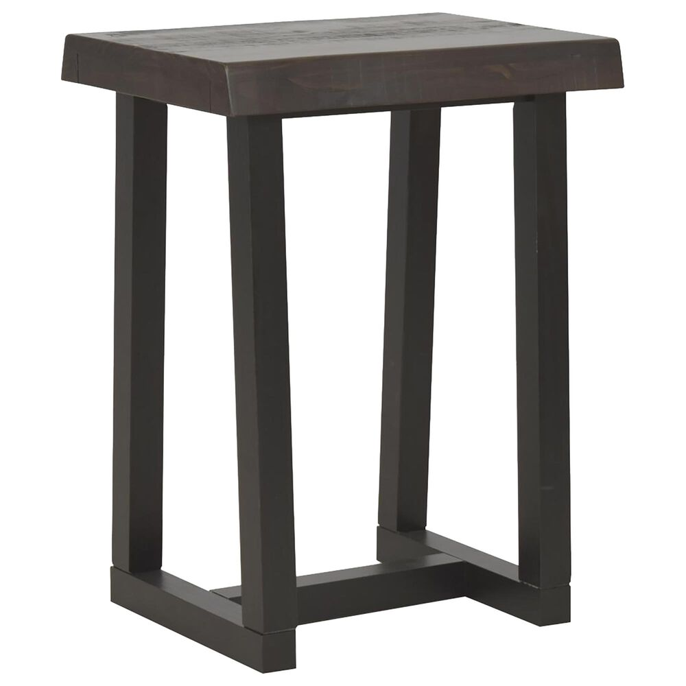 Steve Silver Jennings Live Edge Stool in Distressed Cherry and Ebony, , large
