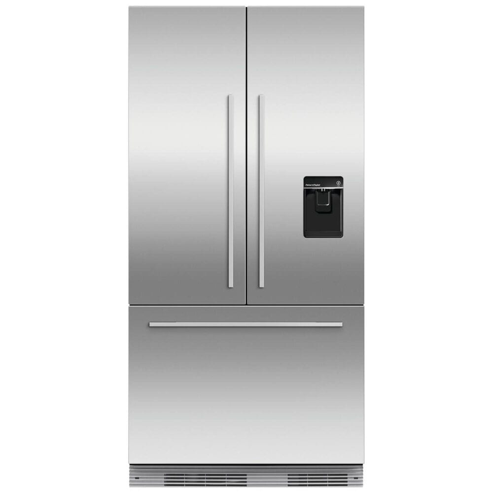 Fisher and Paykel 16.8 Cu. Ft. Integrated Panel Ready Built-In French Door Refrigerator with Ice and Water , , large