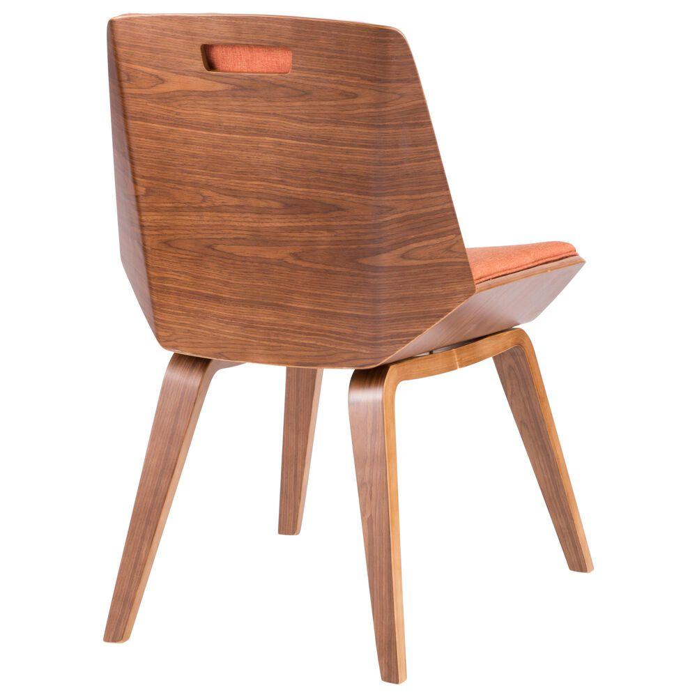 Lumisource Corazza Dining Chair in Orange/Walnut, , large
