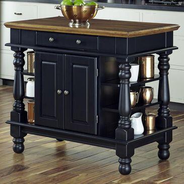Home Styles Americana Traditonal Kitchen Island in Black, , large