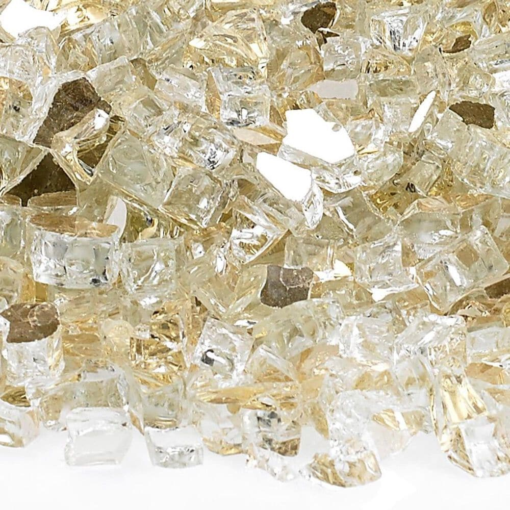 "California Outdoor Concepts 1/4"" Reflective Fire Pit Glass in Gold - 10 lb Jar, , large"